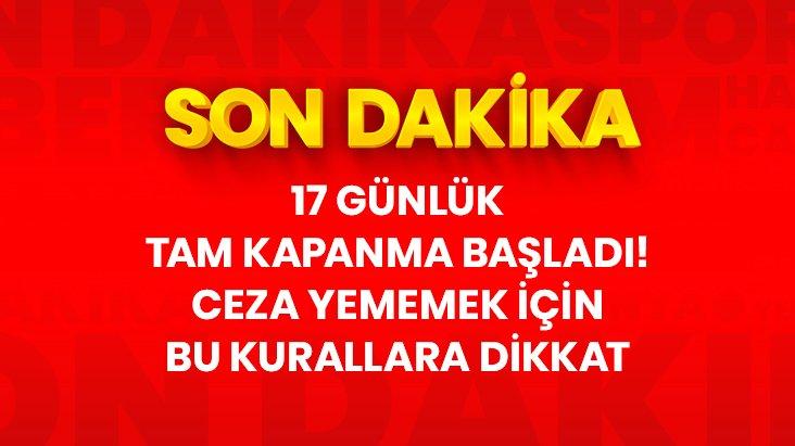 KAPANMA BAŞLADI