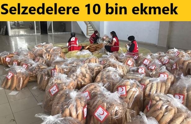 DÜZCE'DEN SELZEDELERE 10 BİN EKMEK